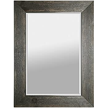 Amazon Com Mirrorize 34x46 Black Hand Stained Wood