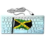 Slim Mini Wired 78 Key Jamaica Small Super Thin Compact Keyboard For Desktop Laptop.
