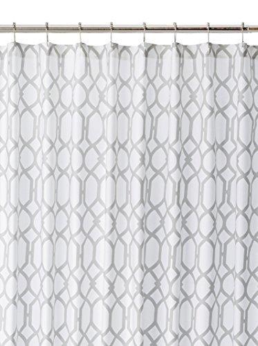 Tommy Bahama 200781 Cotton Shower Curtain, Shoretown Trellis Gray by Revman International