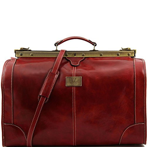 Tuscany Leather Madrid Gladstone Leather Bag - Large size Red by Tuscany Leather