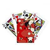 beatChong Butterfly Flower Red Sakura Poker Playing Card Tabletop Board Game Gift