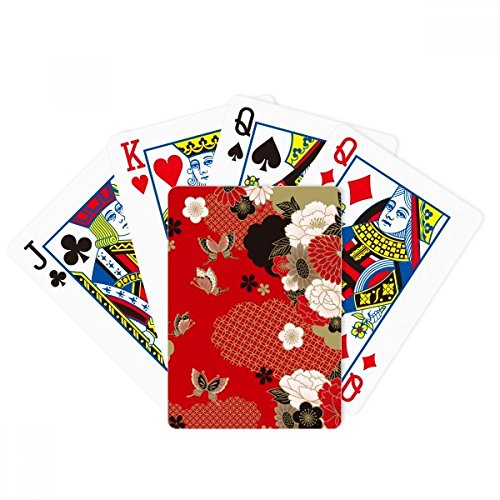 beatChong Butterfly Flower Red Sakura Poker Playing Card Tabletop Board Game Gift by beatChong