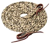 Weaver Leather Silvertip Hollow Braid Trail Rein, Tan/Black/Brown, 5/8-Inch x 10-Feet