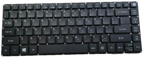 Replacement Laptop Keyboard Without Frame For Acer Aspire E5 491G 474G 475G 491G 432G E5-452G N15C1 US Layout Black Color
