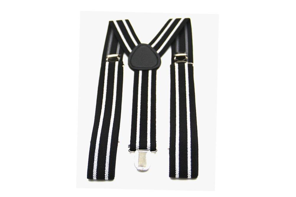 Imani Uomo Boys Pattern Adjustable Suspender - Black & White