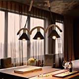 Industrial Vintage Ceiling Pendant Light Metal Hanging lighting Fixtures, E26x3