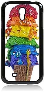 Colorful Ice Cream Cone - Case for the Galaxy S4 i9500 -Hard Black Plastic Case