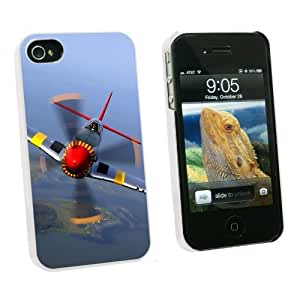 Graphics and More World War 2 II Fighter Plane Aircraft - Snap On Hard Protective Case for Apple iPhone 5 5s - White - Carrying Case - Non-Retail Packaging - White