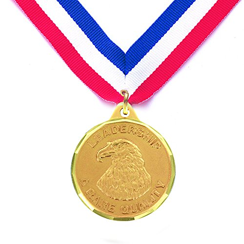 1-1/4 Inch Leadership A Rare Quality Medal comes with Neck Ribbon - Pack of 10