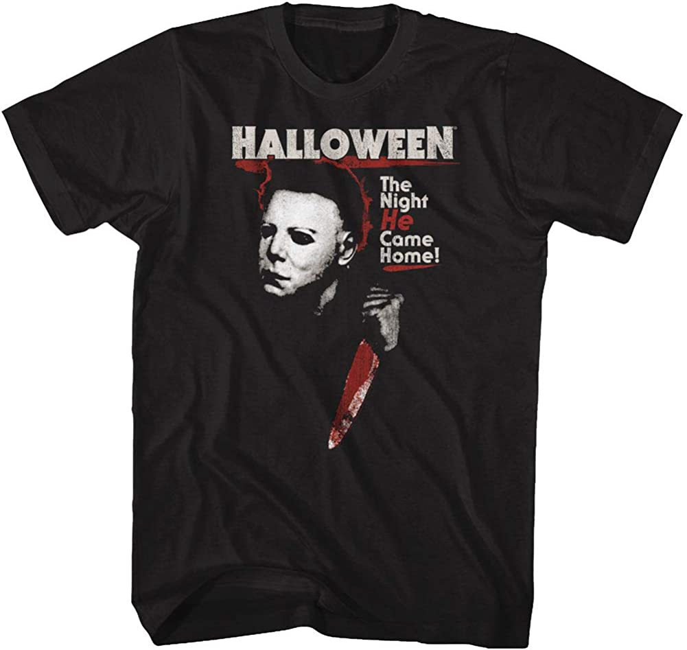 Halloween Scary Horror Slasher Movie Film Night He Came Home Adult T-Shirt Tee
