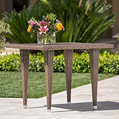 Dominguez | Wicker Outdoor Dining Table | Square | Perfect For Patio | in Mixed Mocha - With its simple and stylish design, the dominica Dining Table is an ideal choice for any patio setup Manufactured in China Assembly required but completely worth it - patio-tables, patio-furniture, patio - 51B6KpSKbTL. SS400  -