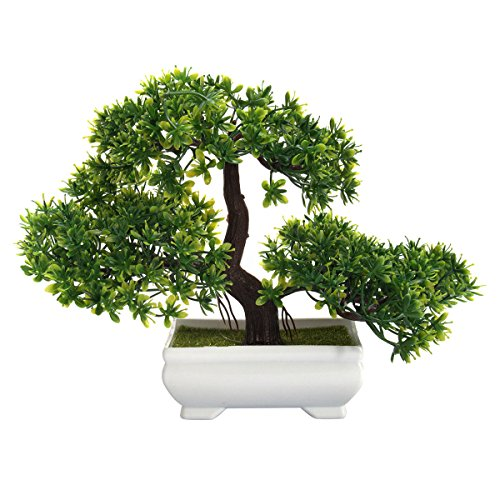 Bonsai Tree in Pot, Artificial Plant Decoration for Office and Home 18 cm