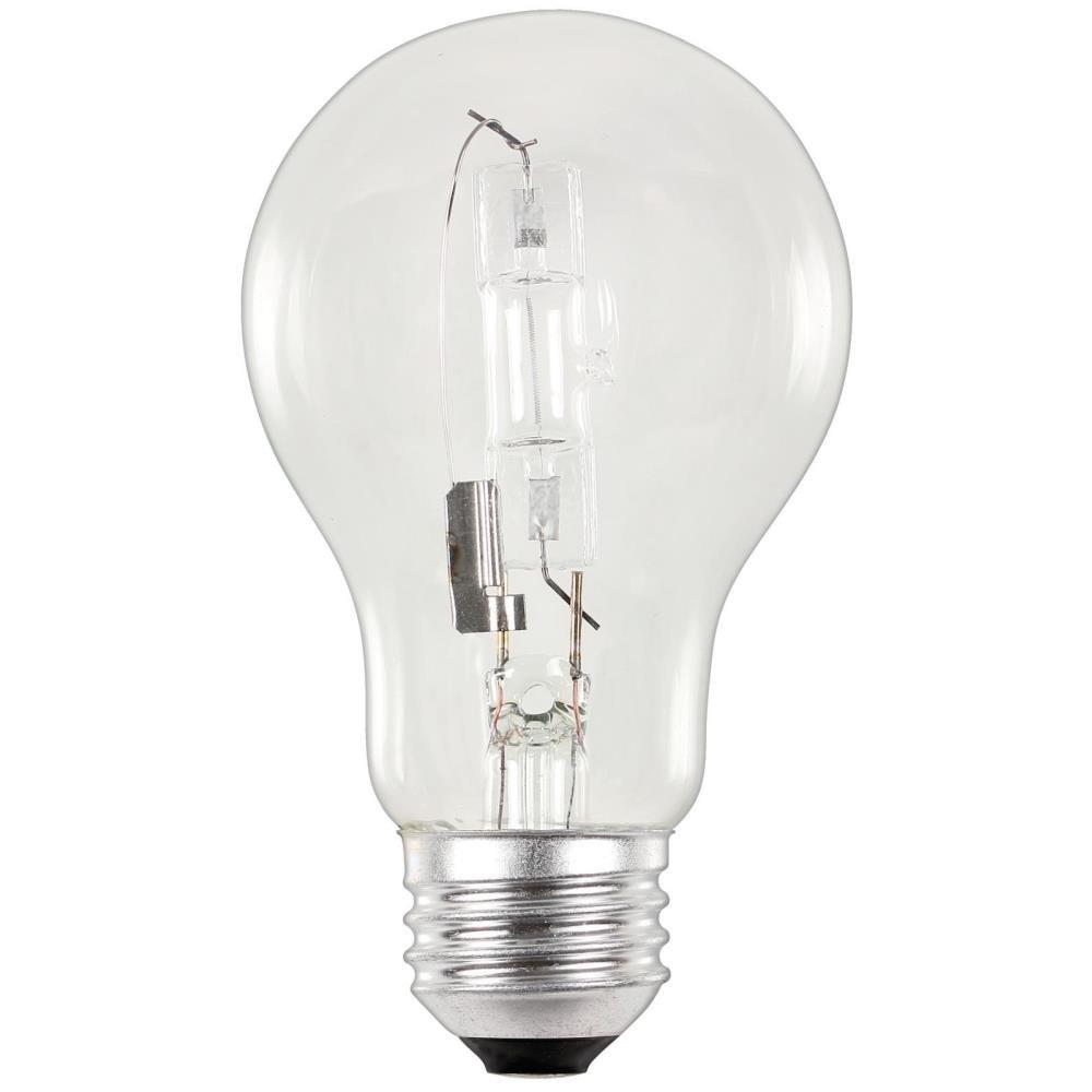 Westinghouse 3683400 53 Watt A19 Eco Halogen Clear Light Bulb with Medium Base 2 Pack