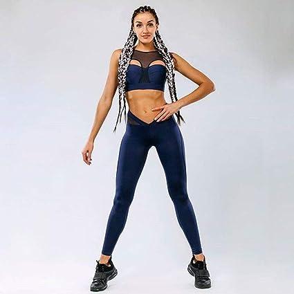 b215fb33cf WEII Conjunto de Ropa Deportiva de Mujer Gimnasio Fitness Yoga Wear ...