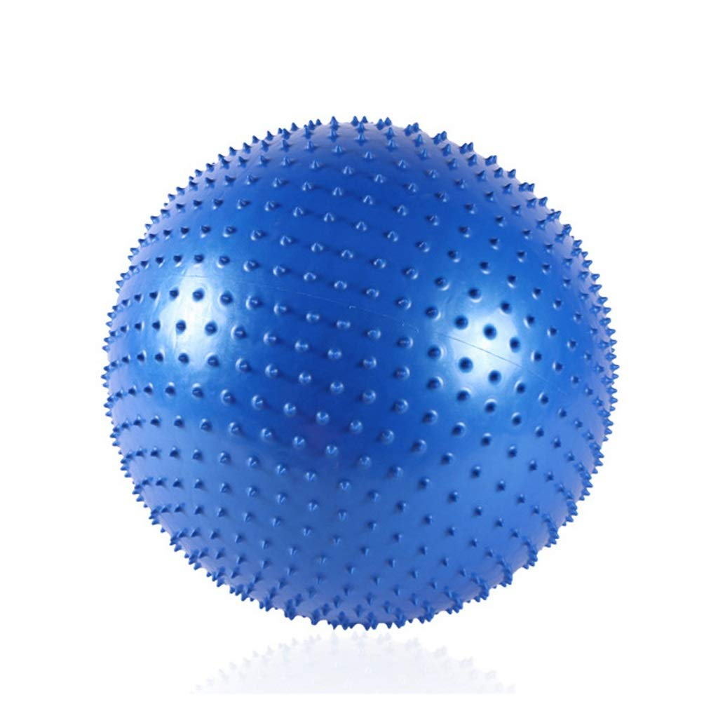 PVC Yoga Ball Fitness Float Ball Massage Thickening Explosion-Proof Home Indoor Sports Balance Training Weight Loss Seat (Color : Blue, Size : 65cm)