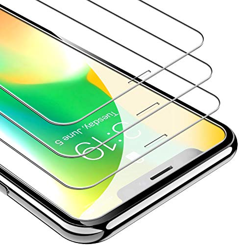 UNBREAKcable iPhone Xs/X Screen Protector [3-Pack], 9H Hardness Tempered Glass for iPhone Xs/X, Case Friendly, 2.5D Round Edge, Anti-Bubbles, Easy Install Tool, 3D Touch Support