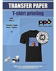 PPD PPD-4-5 - Papel de transferencia para impresora de inyección de tinta, tamaño A4 para tela oscura (5 hojas)