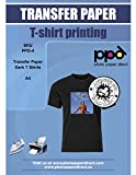 PPD Inkjet Iron-On Dark T Shirt Transfers Paper LTR 8.5x11' Pack of 10 Sheets (PPD004-10)
