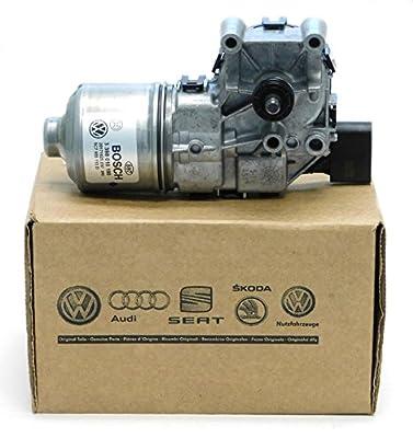 New Genuine OEM VW Windshield Wiper Motor, Volkswagen Jetta-Sedan 2011-2017, with Crank Arm, 5C7-955-113-D
