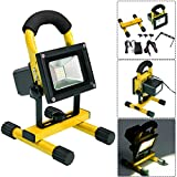 COSTWAY Portable 10W Cordless Work Light Rechargeable LED Flood Spot Camping Lamp (Yellow)