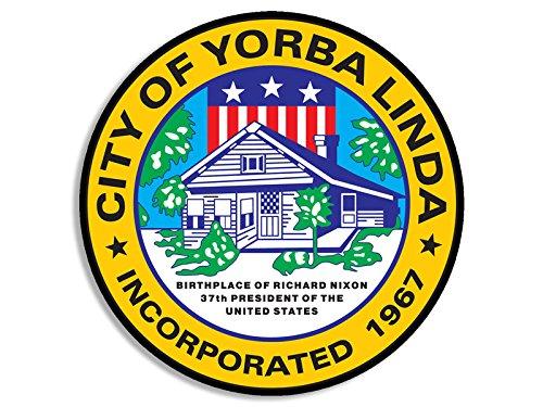 Yorba Linda California City Seal Sticker (decal logo california ca - Logo Linda