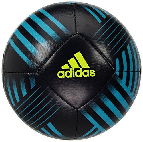 adidas Performance Nemeziz Glider Soccer Ball, Legend Ink/Energy Aqua/Solar Yellow, Size 5 (5 Soccer Size Adidas Ball)