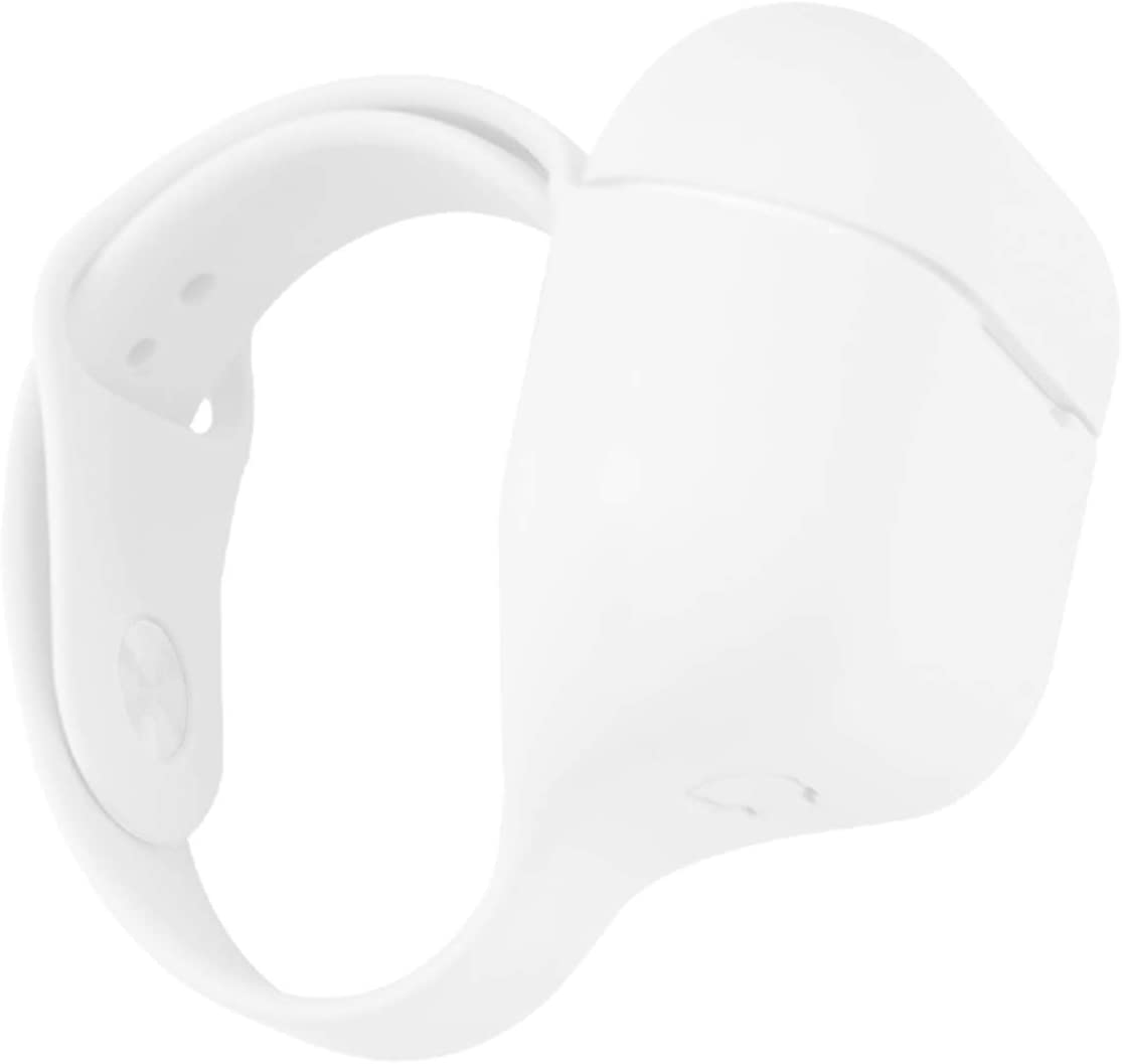 ifctn Wristband Liquid Silicone Cover for Apple AirPods Pro Case (White)