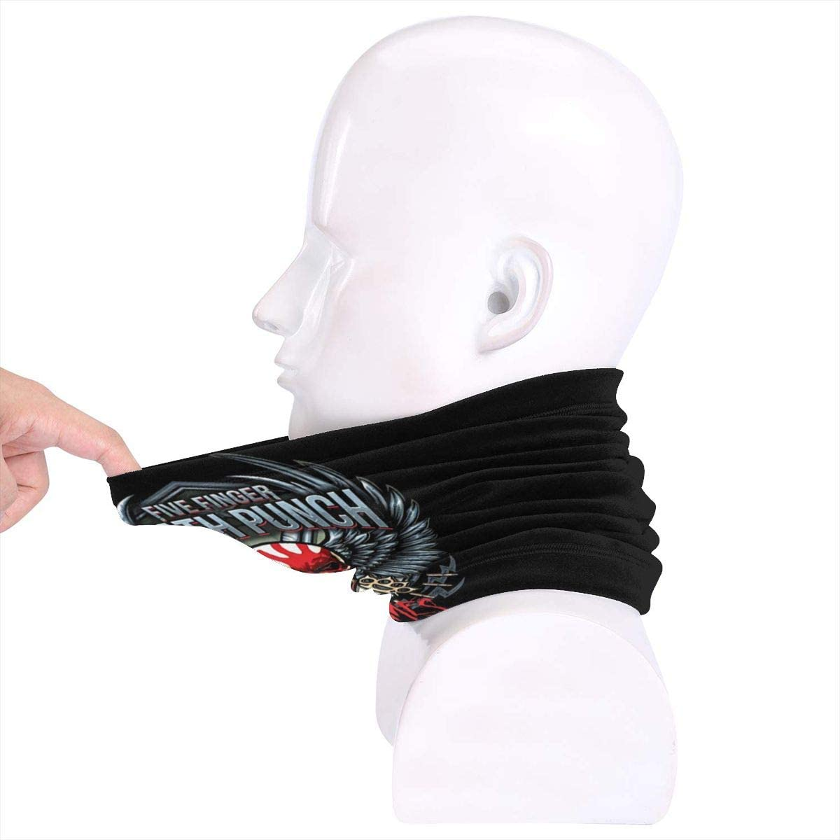 Five Finger Death Punch Highly Elastic Warm Microfiber Neck Thermal Mask Scarf Unisex Windproof Suitable For Winter