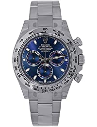 Rolex Cosmograph Daytona 18K White Gold 40mm Blue Dial Watch 116509