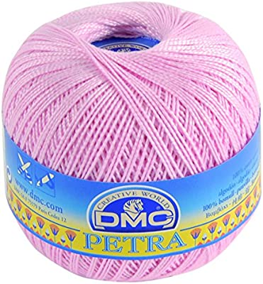 DMC Petra Ovillo, 100% algodón, Rosa, tamaño 5: Amazon.es: Hogar