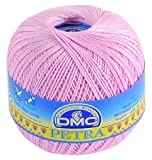 DMC Petra Yarn, 100 Percent Cotton, Pink, Size 5