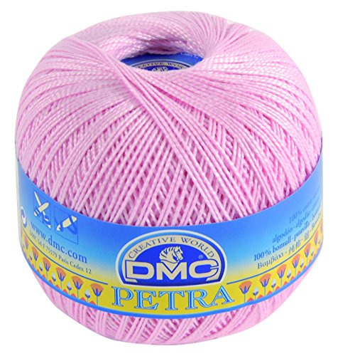 DMC Petra Yarn, 100 Percent Cotton, Pink, Size 5 by DMC