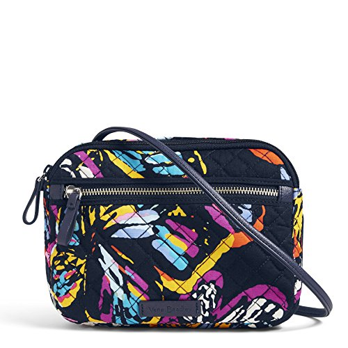 Vera Bradley Iconic Rfid Little Crossbody, Signature Cotton, Butterfly Flutter by Vera Bradley