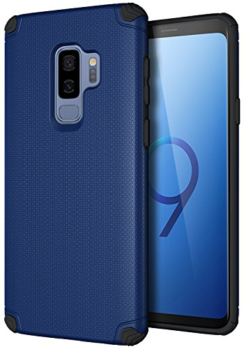 Price comparison product image Galaxy S9 Plus Case, CASEVASN [Dual Layer] [Shockproof] Armor Rugged Defender Shock Absorbent Defender Protective Case with Air Vent Magnetic Car Vent Mount Rubbe for Samsung Galaxy S9 Plus (Blue)
