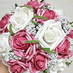 Artificial 11 Colour Rose Bedding Bouquet Married Bride Holding Fowers Simulation Wedding Flower 18