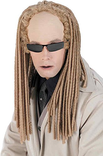 Matrix Theme Costume (UHC Twins Dreads Albino Matrix Movie Theme Adult Halloween Costume Accessory)