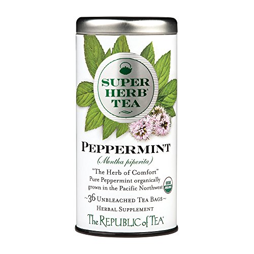 The Republic Of Tea Organic Peppermint Superherb, 36 Tea Bags