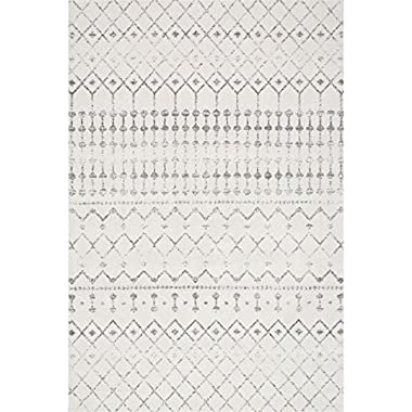 Nuloom 5' x 7' 5  Blythe Rug in Gray