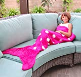 Mermaid Tail Blanket for women Teen and Kids, Made with Soft Boa Material, Comfortable for All Season Sleeping Blanket