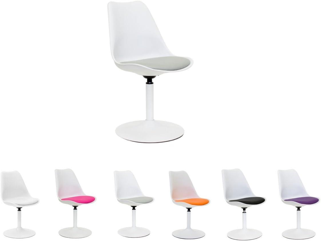 49x53x83 cm Blanc//Blanc Acier Tenzo 3303-401 VIVA Designer chaise pivotante