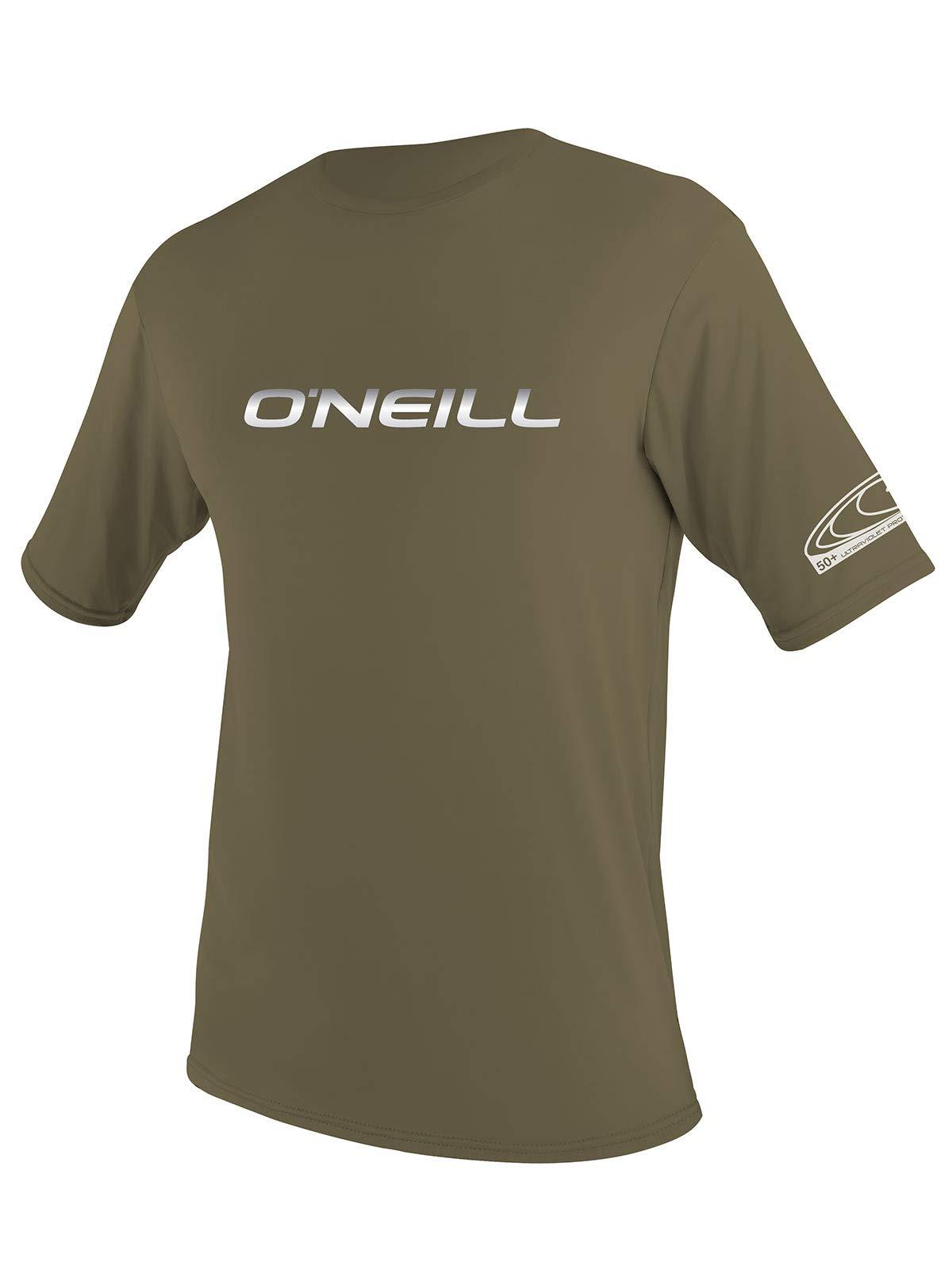 O'Neill Men's Basic Skins Slim Fit Rash Tee S Khaki (3402IB)