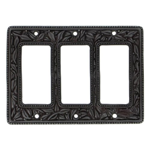Vicenza Designs WP7013 San Michele Wall Plate with Triple Dimmer Opening, Oil-Rubbed Bronze by Vicenza Designs