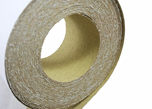 """ABN Adhesive Sticky Back 220-Grit Sandpaper Roll 2-3/4"""" Inch x 20 Yards Aluminum Oxide Golden Yellow Longboard Dura PSA by ABN (Image #1)"""