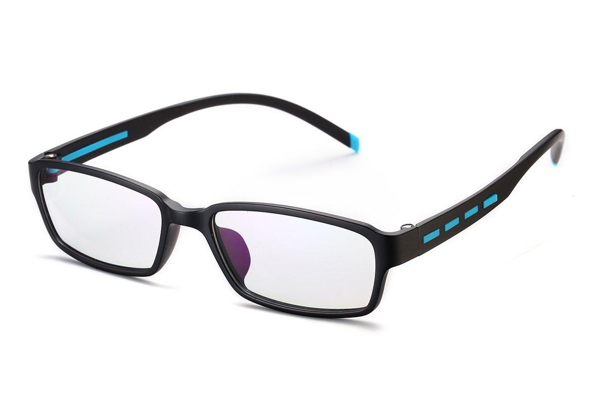 PenSee Fashion TR90 Horned Rim Rectangular Eye Glasses Frames Clear Lens