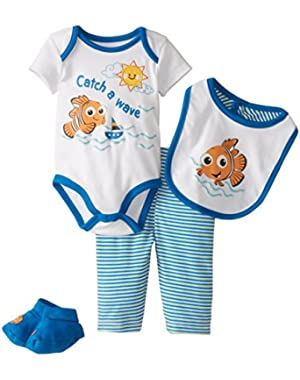 Disney Baby Boys'  Nemo Boys 4 Piece Set