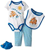 Disney Baby Baby-Boys Newborn Nemo Boys 4 Piece Set, Multi, 0-3 Months