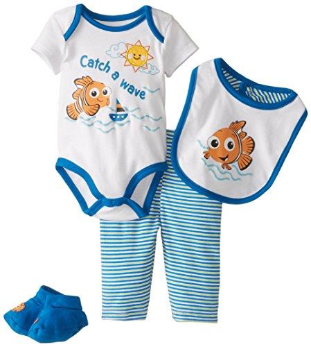 Disney Baby Baby-Boys Newborn Nemo Boys 4 Piece Set, Multi, 3-6 Months (Nemo Baby Bibs)