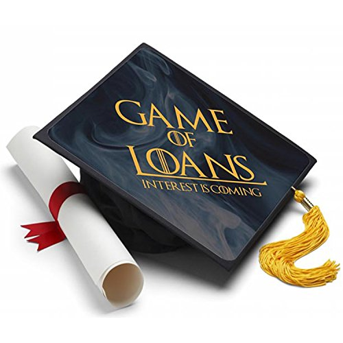 Game of Loans Graduation Cap Tassel Topper - Decorated Grad Caps - Decorating Kits -