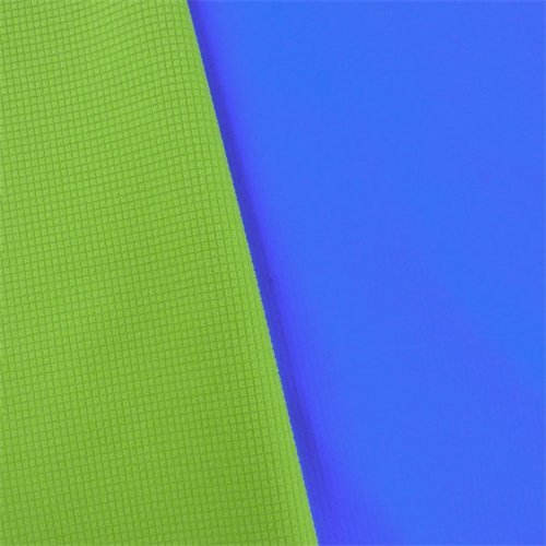 Blue/Green Waterproof Stretch Soft Shell Grid Fleece, Fabric by The Yard