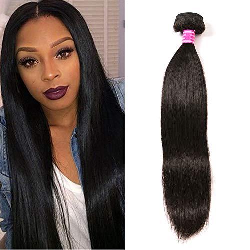 Brazilian Virgin Hair Straight 1 Bundle 100% Unprocessed Brazilian Straight Human Hair Weave Bundles Weaving Natural Black Color (18